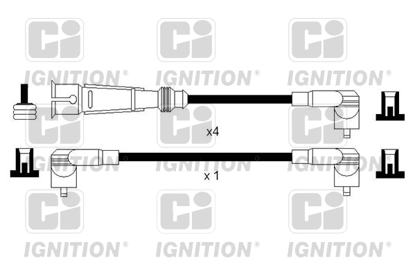 Cable d'allumage QUINTON HAZELL XC1145 (X1)