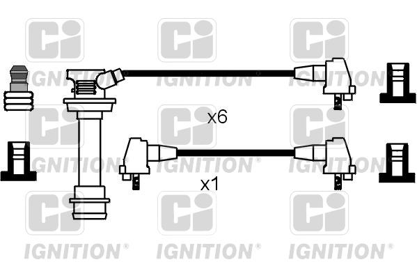 Cable d'allumage QUINTON HAZELL XC629 (X1)