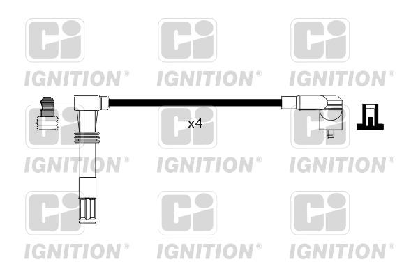 Cable d'allumage QUINTON HAZELL XC717 (X1)