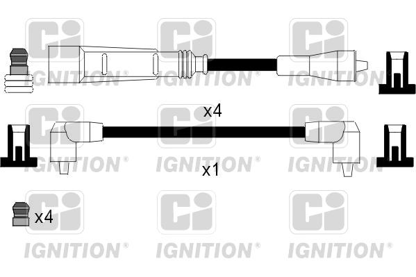 Cable d'allumage QUINTON HAZELL XC905 (X1)