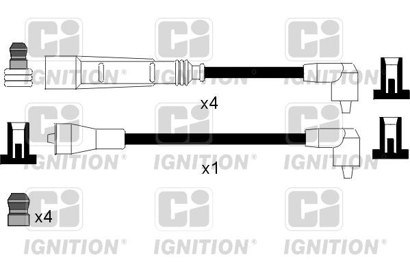 Cable d'allumage QUINTON HAZELL XC967 (X1)