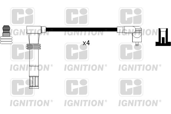 Cable d'allumage QUINTON HAZELL XC981 (X1)