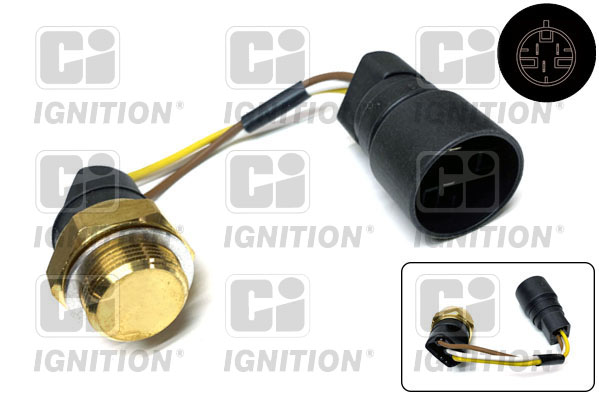 Interrupteur de temperature, ventilateur de radiateur QUINTON HAZELL XEFS220 (X1)