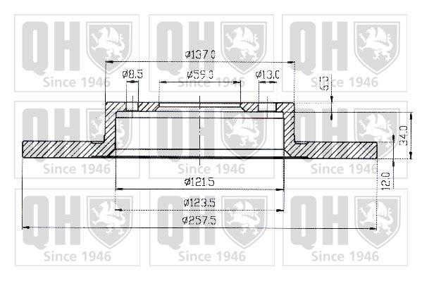 Disque de frein QUINTON HAZELL BDC3511 (X1)