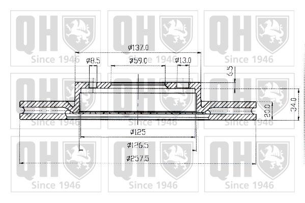 Disque de frein avant QUINTON HAZELL BDC3593 (X1)
