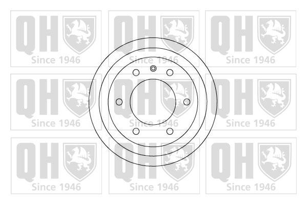 Tambour de frein arriere QUINTON HAZELL BDR247 (X1)