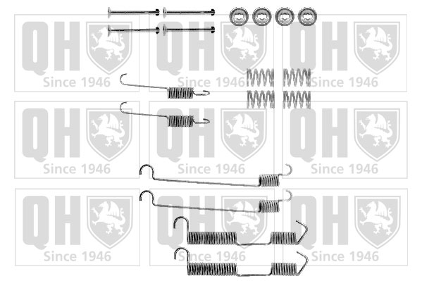 Kit de montage machoires de frein QUINTON HAZELL BFK260 (X1)