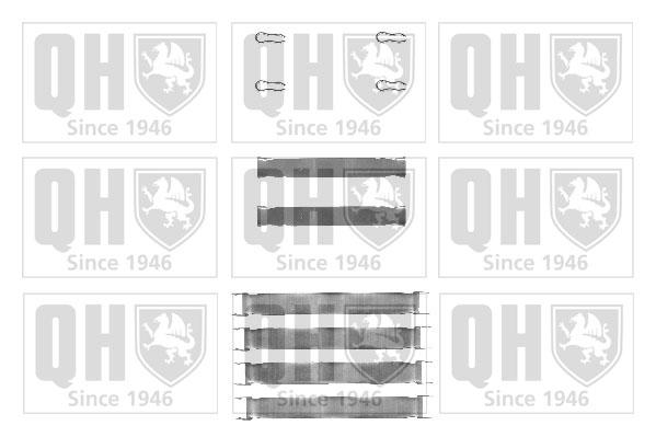 Kit de montage plaquettes de frein QUINTON HAZELL BFK752 (X1)