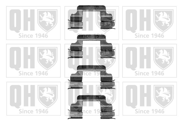 Kit de montage plaquettes de frein QUINTON HAZELL BFK890 (X1)