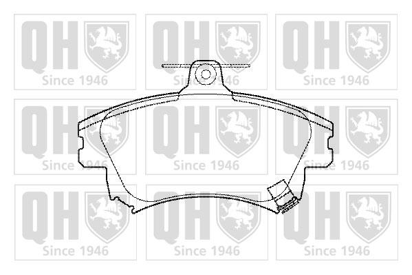 Plaquettes de frein avant QUINTON HAZELL BP1099 (X1)