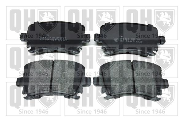 Plaquettes de frein arriere QUINTON HAZELL BP1420 (X1)