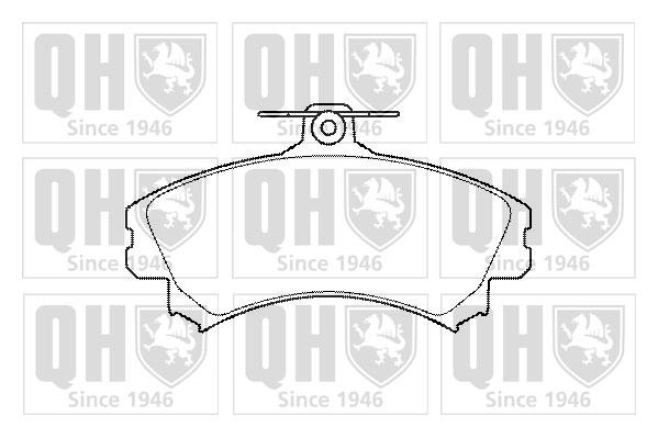 Plaquettes de frein avant QUINTON HAZELL BP1430 (X1)