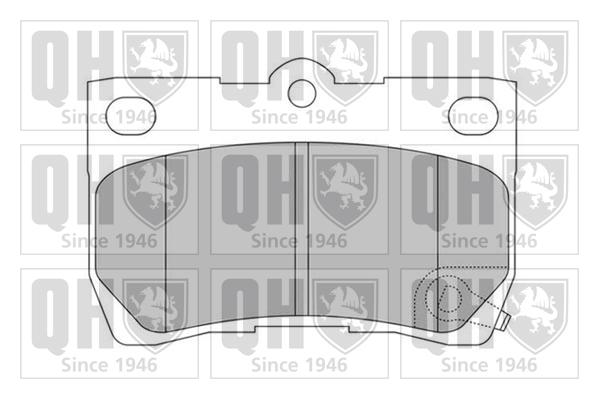 Kit de plaquettes de frein, frein à disque QUINTON HAZELL BP1540 (X1)