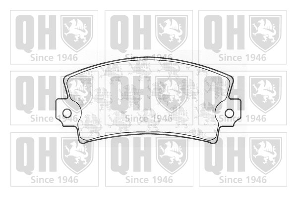 Plaquettes de frein QUINTON HAZELL BP157 (X1)