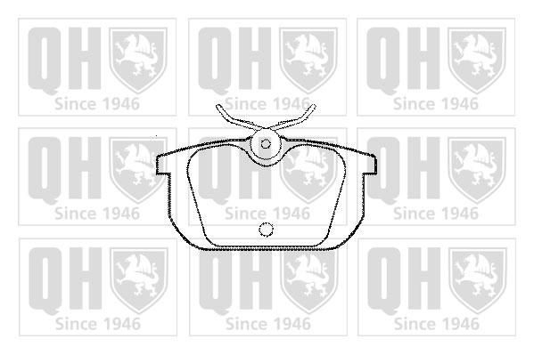 Plaquettes de frein arriere QUINTON HAZELL BP369 (X1)