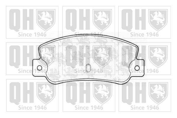 Plaquettes de frein QUINTON HAZELL BP402 (X1)