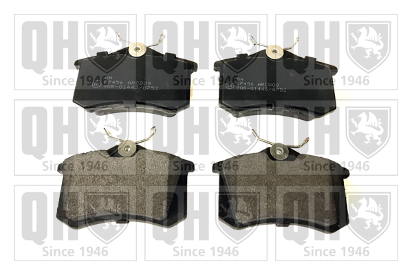 Plaquettes de frein arriere QUINTON HAZELL BP456 (X1)