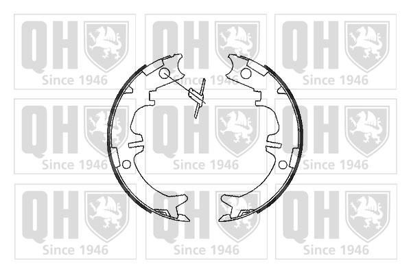 Jeu de mâchoires de frein de frein à main QUINTON HAZELL BS1094 (X1)
