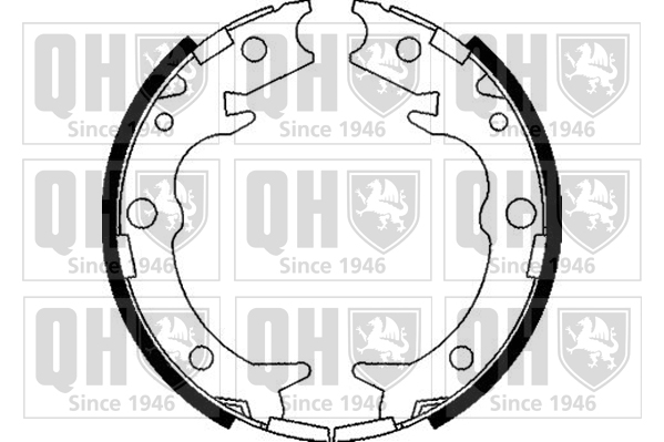 Jeu de mâchoires de frein de frein à main QUINTON HAZELL BS1095 (X1)