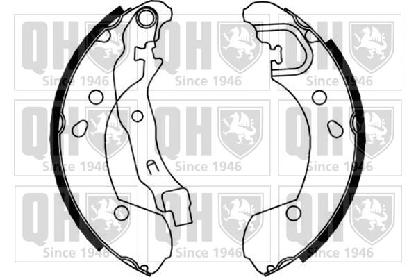 kit de frein arrière simple ou prémonté QUINTON HAZELL BS1153 (X1)