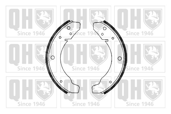 kit de frein arrière simple ou prémonté QUINTON HAZELL BS543 (X1)