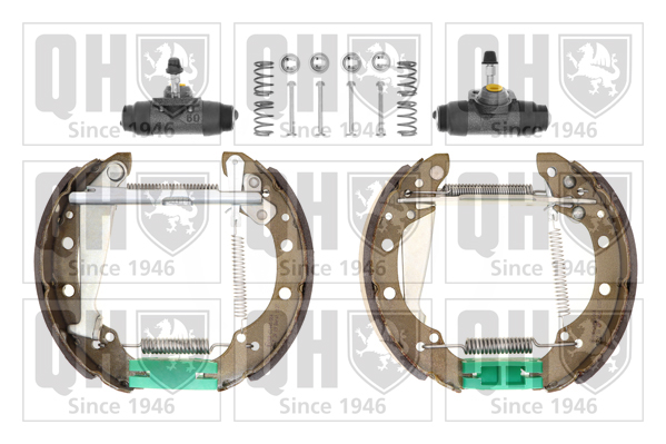 kit de frein arrière simple ou prémonté QUINTON HAZELL BS836K12 (X1)