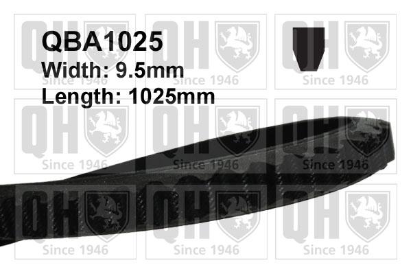 Courroie d'accessoire QUINTON HAZELL QBA1025 (X1)