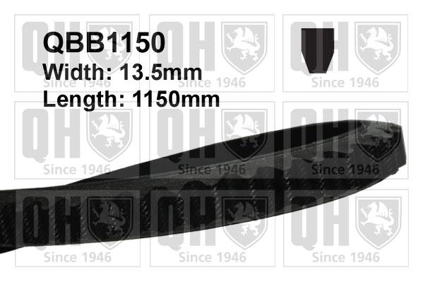Courroie d'accessoire QUINTON HAZELL QBB1150 (X1)