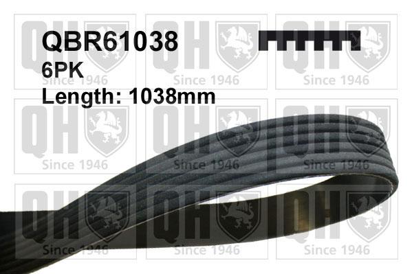 Courroie d'accessoire QUINTON HAZELL QBR61038 (X1)