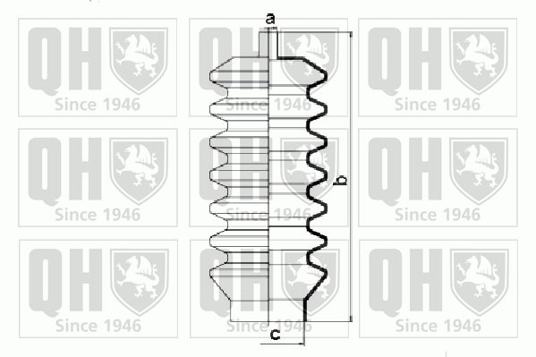 Joints soufflets direction - crémaillère QUINTON HAZELL QG1010 (X1)