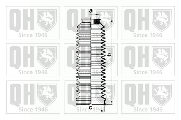 Joints soufflets direction - crémaillère QUINTON HAZELL QG1442 (X1)