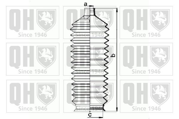 Joints soufflets direction - crémaillère QUINTON HAZELL QG1453 (Jeu de 2)