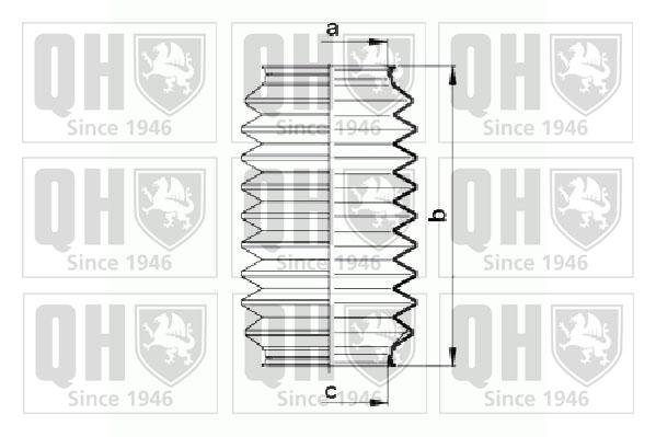 Joints soufflets direction - crémaillère QUINTON HAZELL QG1484 (Jeu de 2)