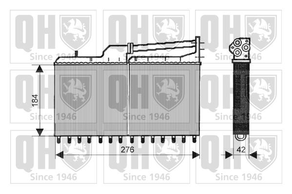 Radiateur de chauffage QUINTON HAZELL QHR2041 (X1)
