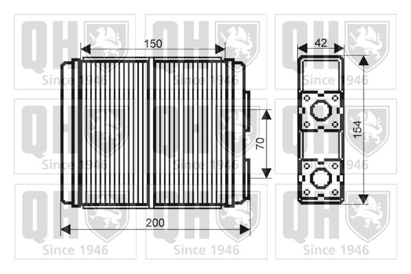 Radiateur de chauffage QUINTON HAZELL QHR2140 (X1)
