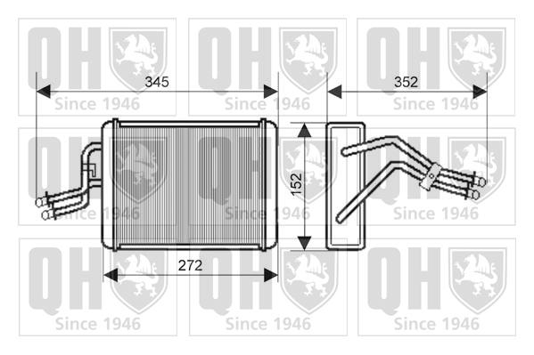 Radiateur de chauffage QUINTON HAZELL QHR2188 (X1)