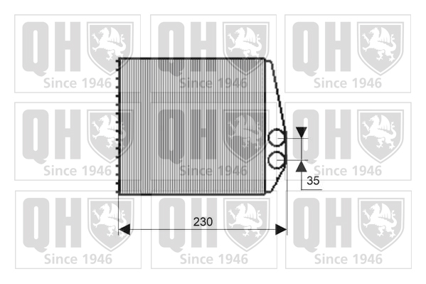 Radiateur de chauffage QUINTON HAZELL QHR2195 (X1)