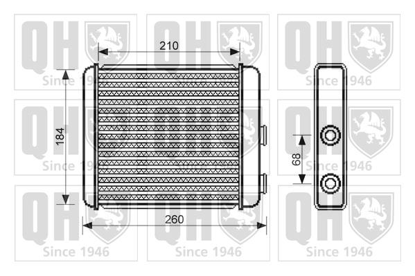 Radiateur de chauffage QUINTON HAZELL QHR2215 (X1)