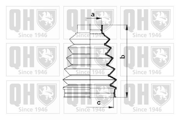 Soufflet de cardan QUINTON HAZELL QJB1012 (X1)