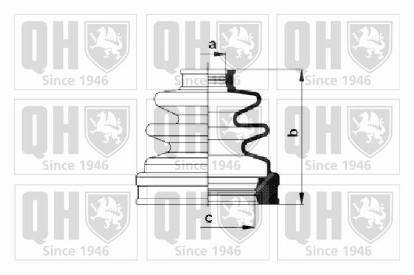 Soufflet de cardan QUINTON HAZELL QJB1028 (X1)