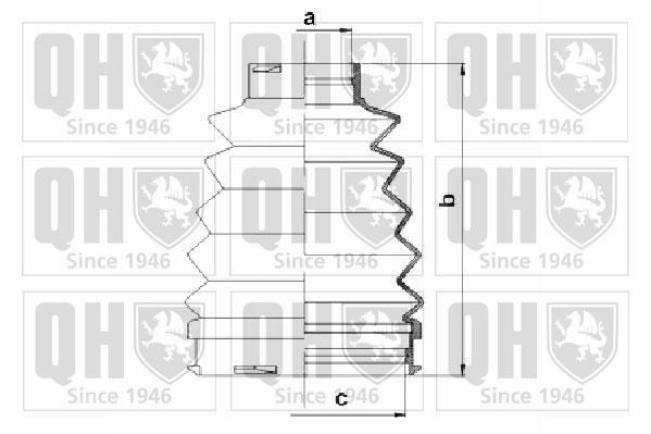 Soufflet de cardan QUINTON HAZELL QJB1085 (X1)