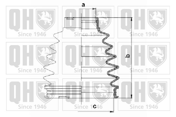 Soufflet de cardan QUINTON HAZELL QJB1086 (X1)