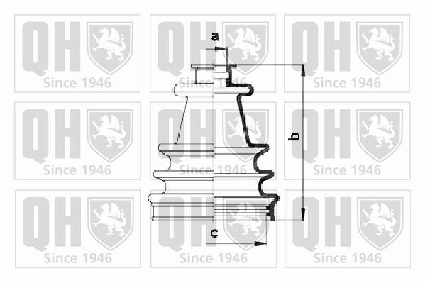 Soufflet de cardan QUINTON HAZELL QJB109 (X1)