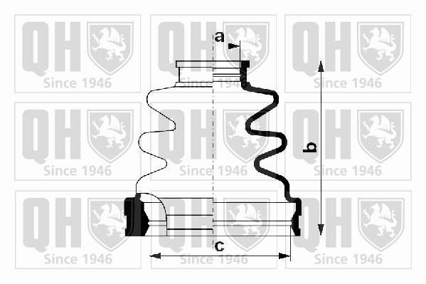 Soufflet de cardan QUINTON HAZELL QJB1151 (X1)