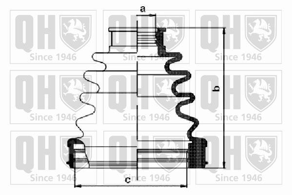 Soufflet de cardan QUINTON HAZELL QJB1152 (X1)