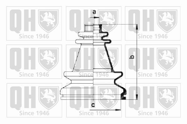 Soufflet de cardan QUINTON HAZELL QJB195 (X1)