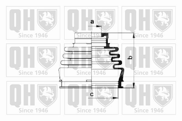 Soufflet de cardan QUINTON HAZELL QJB220 (X1)
