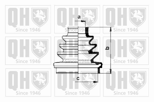 Soufflet de cardan QUINTON HAZELL QJB630 (X1)