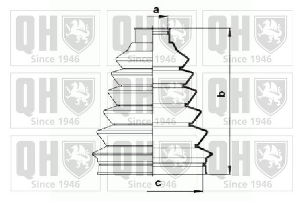 Soufflet de cardan QUINTON HAZELL QJB883 (X1)