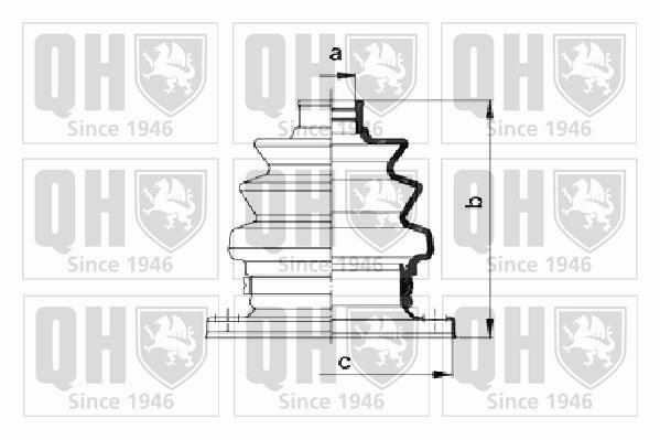 Soufflet de cardan QUINTON HAZELL QJB966 (X1)